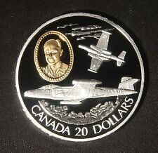 1996 $20 CANADA AVIATION CF-100 CANNUCK 0.925 SILVER ASW=0.925 LOT 030803