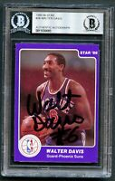 Walter Davis #36 signed autograph auto 1985-86 Star Basketball Card BAS Slabbed