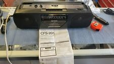 Vintage Sony Cfs-201 Portable Radio Boombox Cassette-Corder Player am/fm Stereo