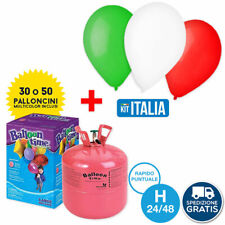 BOMBOLA GAS ELIO da 30 O 50 PALLONCINI + KIT ITALIA 30 PALLONCINI Nazionale Tifo