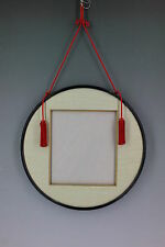 Round Wooden Shikishi Frame for Shikishi Painting Paper Board With Tassels NEW