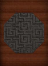 Black Transitional Hand Hooked Squares Curls Blocks Area Rug Geometric DV13
