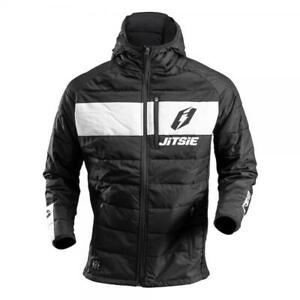 JITSIE PUFFER PUFFA TRIALS BIKE CASUAL / RIDING JACKET / COAT. BLACK/WHITE.