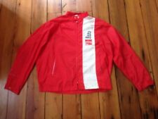 Vintage Coca-Cola It's the Real Thing Red White Bonner Windbreaker Jacket L 53""