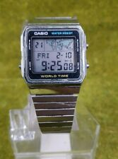 Vintage Casio World Time Lcd Watch A300U