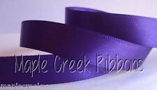 """3yd of Purple 5/8"""" Double Face Satin Ribbon 5/8"""" x 3 yards neatly wound"""