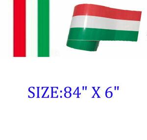 "3 Color 84"" X 6"" German Euro Italy Cars Racing Body Stripe Vinyl Decal Sticker"