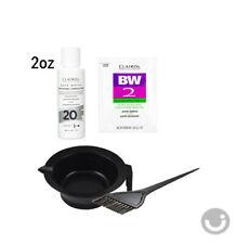 CLAIROL BW2 Powder Bleach Lightener 1oz + Creme Developer 20V 2oz + Bowl + Brush