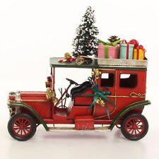 Nostalgie Blechauto Oldtimer Retro rot Weihnachtsdeko Weihnachtsmannmobil