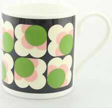 Orla Kiely Bone China Mug - Green Apple Big Spot Sunflower. Tea/Coffee cup.