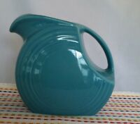Fiestaware Turquoise Large Disc Pitcher Fiesta Blue Large Water Pitcher