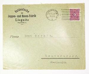 Werbe Brief Ostdeutsche Joppen und Hosen Fabrik Liegnitz Schlesien 1922 ! (B1