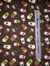 "Custom Starbucks Coffee Beans inspired Fabric Cotton 18""x19"""