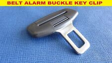 SEAT IBIZA LEON GREY SEAT BELT ALARM BUCKLE KEY CLIP SAFETY CLASP STOP