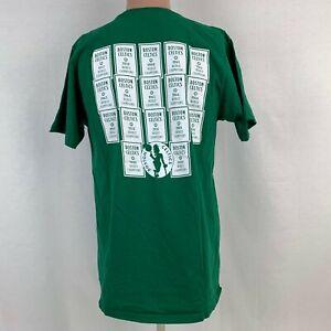 Adidas Boston Celtics Wear History Double Sided T Shirt NBA Champion Banners L