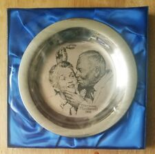 New Listing1971 Franklin Mint Christmas Plate Norman Rockwell under the mistletoe sterling
