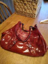 adrienne vittadini red bag 100 per cent genuine leather