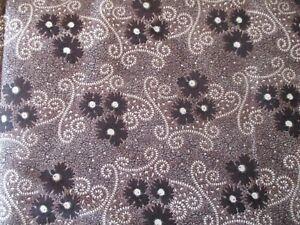 Dark Chocolate & Lilac 1850 by Sara Morgan for Blue Hill Fabrics Quilt Shop 1 yd