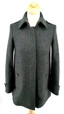 Burberry Wool Cashmere Blend Grey Oversized Coat XS IT 36 UK 4 USA 2 FRA 30