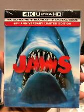 JAWS 45TH ANNIVERSARY LIMITED EDITION 4K ULTRA HD BLU RAY + LENTICULAR SLIPBOX