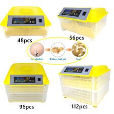 New listing 48/56/96/112 Egg Incubator Digital Fully Turning Automatic Mini Egg Hatching Us