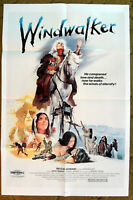 """Story of early native American Indians -- """"THE WINDWALKER"""" / 1981 poster 27 x 41"""