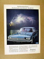 1966 Ford Thunderbird Town Landau 428 V-8 V8 blue car photo vintage print Ad