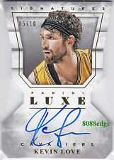 2015-16 PANINI LUXE DIE-CUT AUTO: KEVIN LOVE #5/10 ON CARD AUTOGRAPH CAVS FINALS