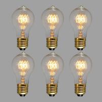 1/3/6 Pcs Edison Vintage 110V 40/60W E26 Light Lamp Bulb Filament Incandescent