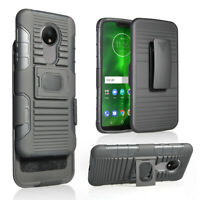 Tempered Glass for Moto G7 Power Holster Belt Clip Case Hybrid Defender Armor
