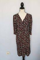 Damen KING LOUIE Schwarz / Mehrfarbig Dress  Kleider Langarm   Gr. XL