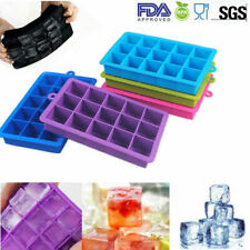 EXTRA LARGE 15 SLOT ICE CUBE TRAY - Flexible Silicone Jelly Mould Pudding Mould