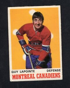 1970-71 OPC O-Pee-Chee #177 Guy Lapointe RC HOF VG well centered