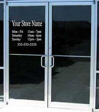 Custom Business Store Hours Sign Vinyl Decal Sticker 12x 15 Window Door Glass