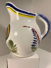 Keraluc Quimper Pitcher With Rooster