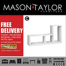 Mason Taylor Artiss DIY L Shaped Display Shelf - White#