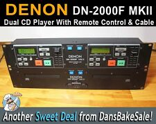 Denon DN-2000F MKII Double CD Player w/ Controller & Cable Tested & Works Great!