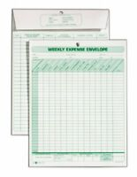 "Tops Weekly Expense Envelope Form - 8.50"" X 11"" Sheet Size - White - 20 / Pack"