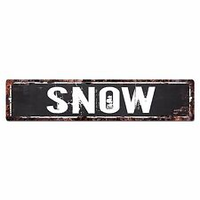 SLND0687 SNOW Street Chic Sign Home man cave Decor Gift Ideas