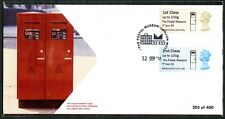 POSTAL MUSEUM F BOX 50 2nd Class INDENTED TEXT ERROR ON OFFICIAL FDC POST & GO
