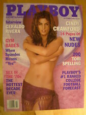 Original Playboy Magazine October 1998 Cindy Crawford Nude