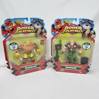 *NEW SEALED* Lot of 2 Power Players Masko and Sarge Basic Figure