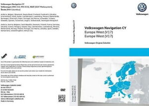 2020 VW RNS510 Sat Nav DVD Disc Map WEST Europe V17 and firmware 5238 or 6276