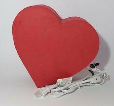 Papel De Arroz Rojo Corazón Eléctrico Lámpara De Mesa-Love-día de San Valentín