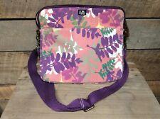 LUCKY BRAND PADDED LAPTOP-MESSENGER-IPAD CASE BAG Purple-pink-gray Little Use.
