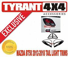 Mazda BT50 2012 2013 2014 2015 2016 2017 Black Tail Light Trims Covers Surrounds