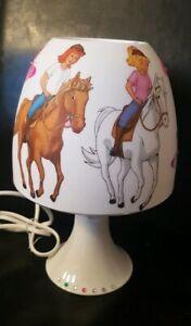 Bibi und Tina Tischlampe Pferde Lampe Nachtlicht Kinderzimmer Deko Serviette LED