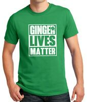 Ginger Lives Matter T Shirt Green Clover Irish Shamrock St Patricks Day T-Shirt