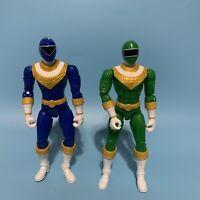 "Lot Of 2 SCG Mighty Morphin Power Rangers 7"" Action Figures Green Blue Ranger"