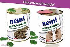 2er Set - Konserve Überraschung Geschenkidee Dosen Blechdose Frosch Mäuse Gag